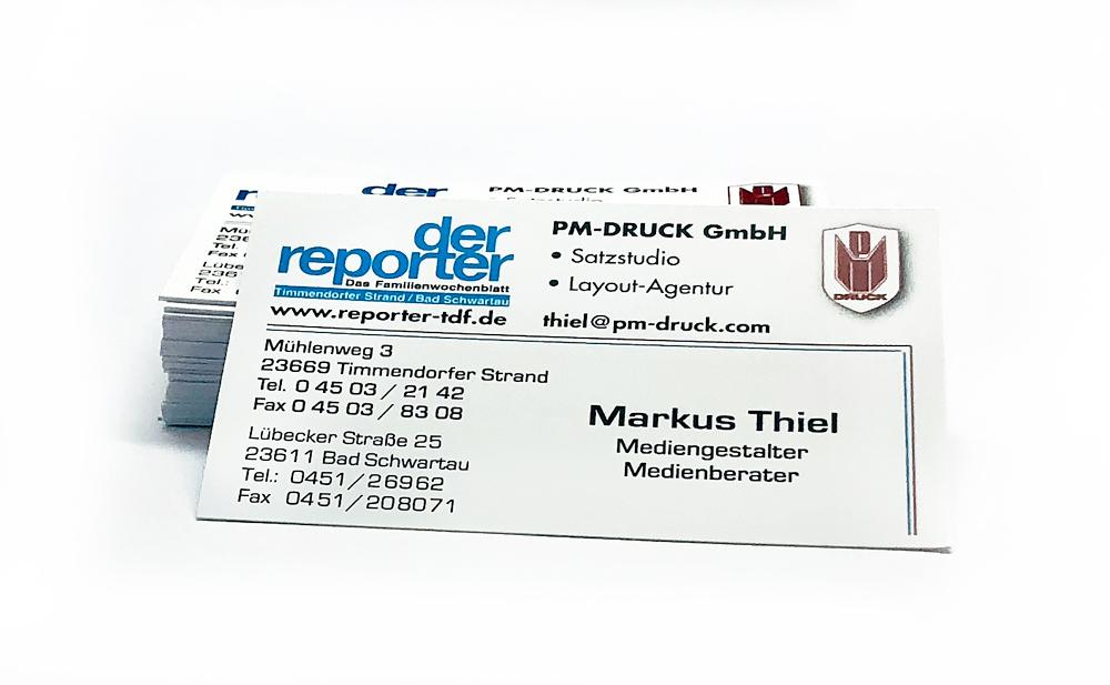 Visitenkarten Pm Druck Gmbh
